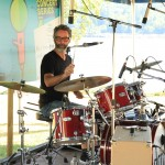 Kevin Dubois drumming for China Syndrome at Cates Park in North Vancouver