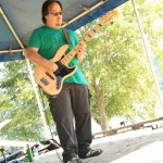 Mike Chang playing Bass for China Syndrome at Cates Park in North Vancouver
