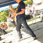 Tim Chan performing with China Syndrome at Cates Park in North Vancouver