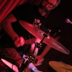 Kevin Dubois drumming at the Fairview Pub in Vancouver
