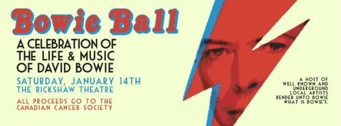 Bowie Ball at the Rickshaw this Saturday, Jan 14