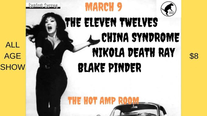March 9 at the Hot Amp in Surrey