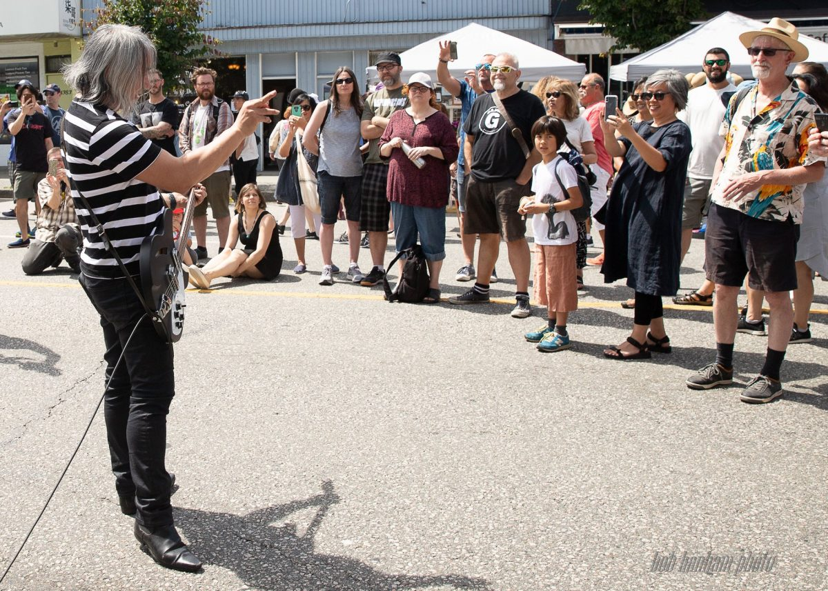 China Syndrome performing in front of Red Cat Records, Main St. Car Free Day, June 16/19, Vancouver