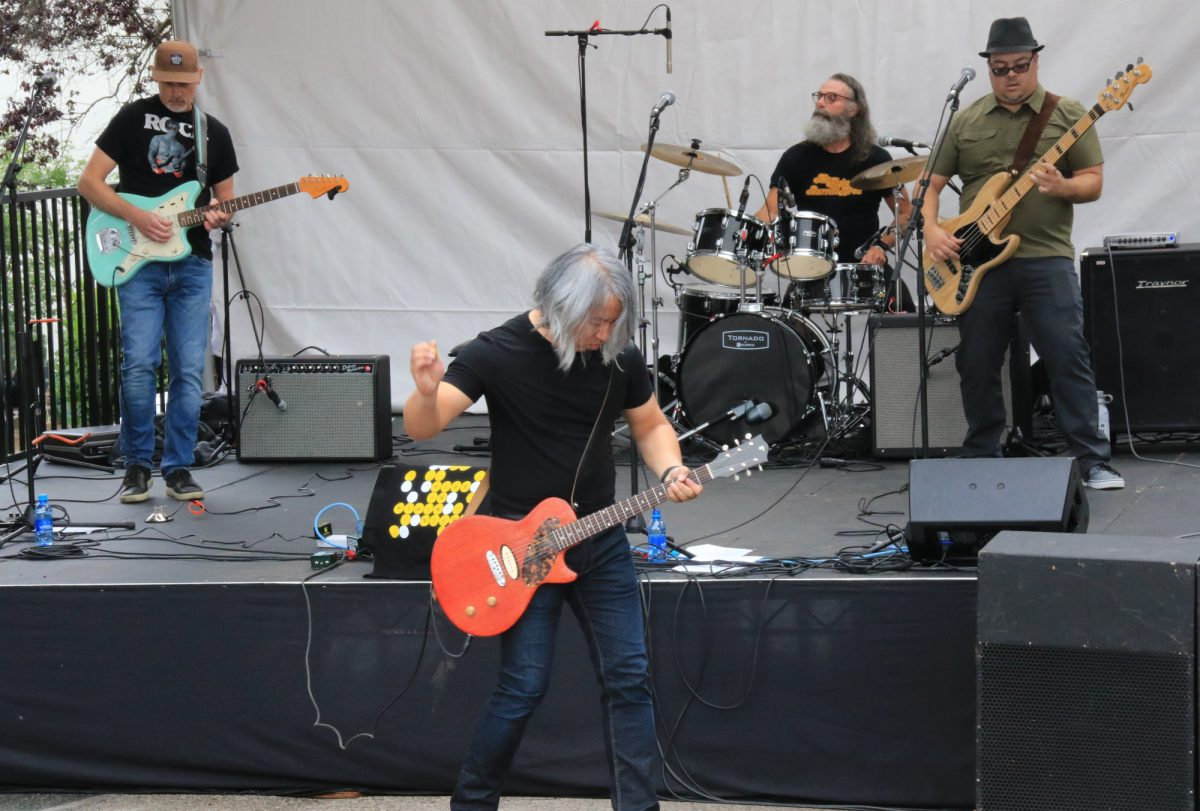 China Syndrome performing at the 2019 Khatsahlano Street Party, Maple Stage, July 6/19, Vancouver